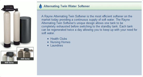Alternating Twin Water Softener