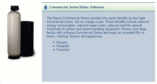 Commercial Series Water Softeners