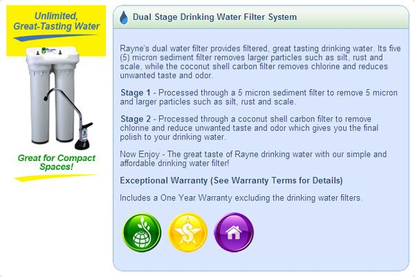 Dual Stage Drinking Water
