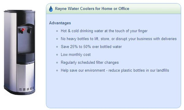 Rayne Water Coolers for Home or Office
